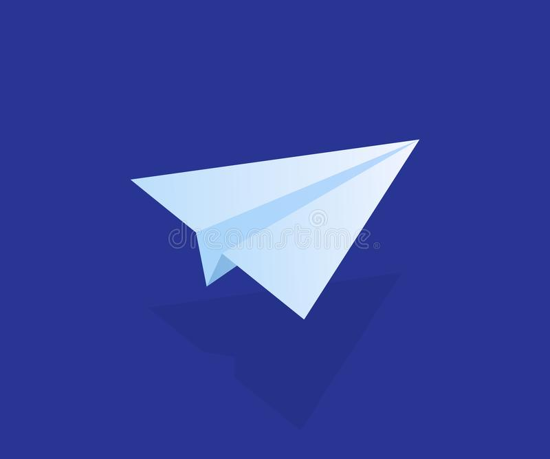 Email and message sending concept, isometric paper plane, mailing banner. Modern vector illustration royalty free illustration
