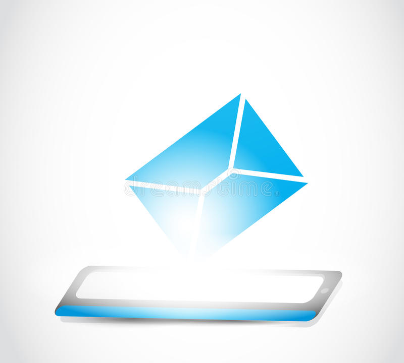 Email messaging tablet technology stock illustration