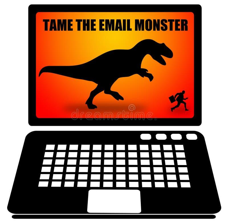 Email monster stock illustration