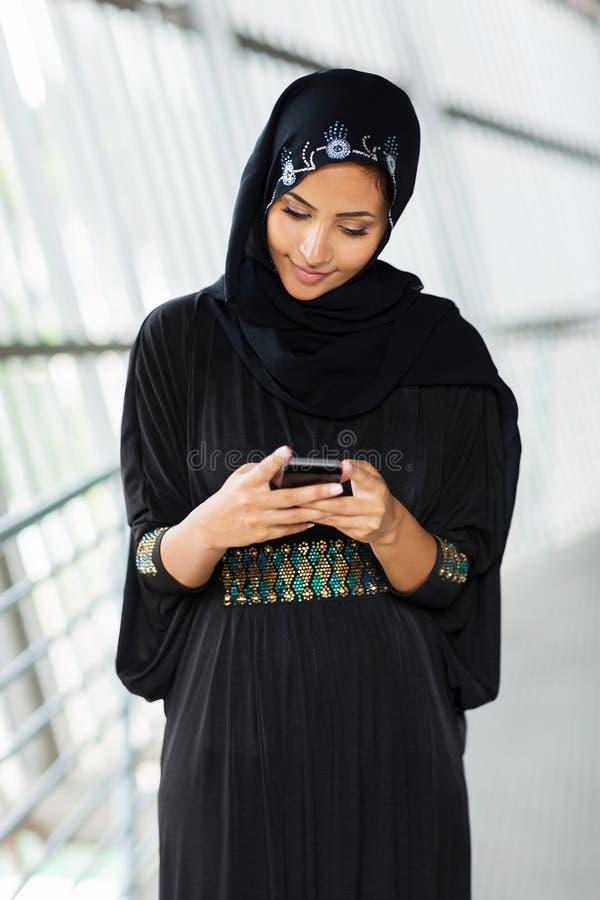 Email musulman de femme images libres de droits