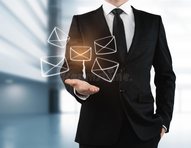 Email networking concept stock illustration