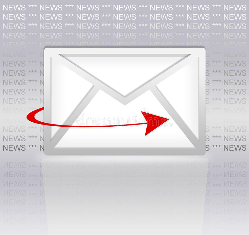 Download Email newsletter stock illustration. Image of digital - 16935795