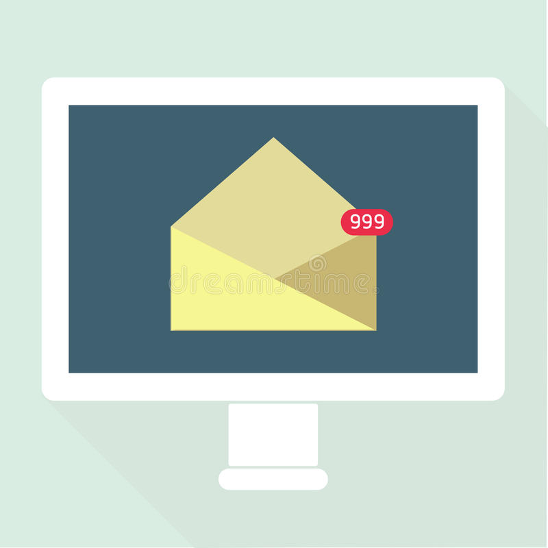 Email Notification flat design. Vector. eps10 stock illustration