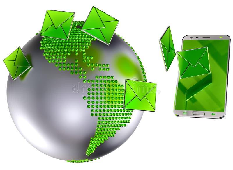 Download Email O SMS Enviado Al Teléfono Móvil Stock de ilustración - Ilustración de conexión, información: 41905998