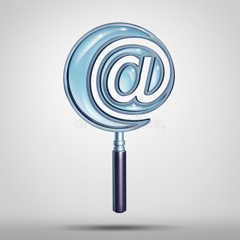 Email- och internetsökande stock illustrationer
