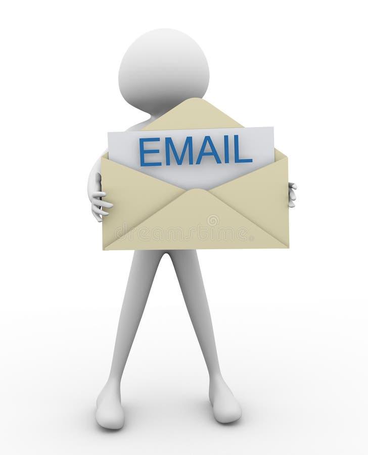 email odkrywa ilustracja wektor