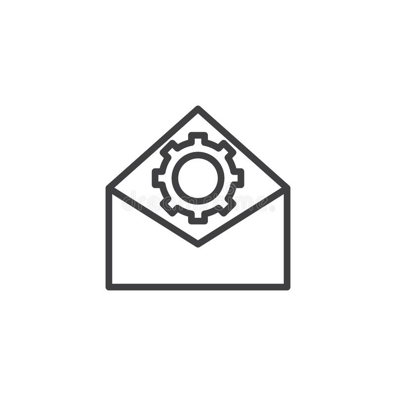 Email optimization line icon royalty free illustration