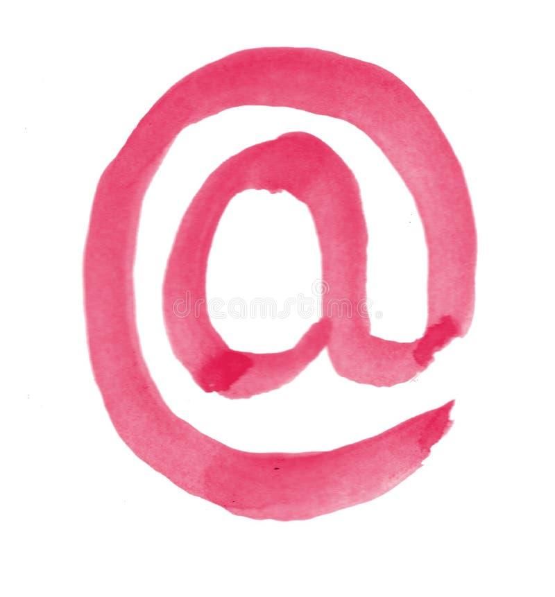Email peint dit illustration libre de droits