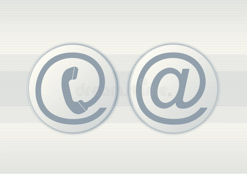 Download Email and phone symbols stock illustration. Illustration of telephone - 4529251