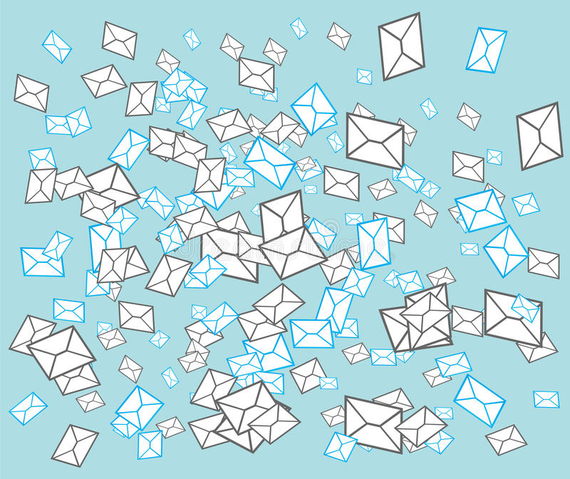 Email post envelope concept vector illustration