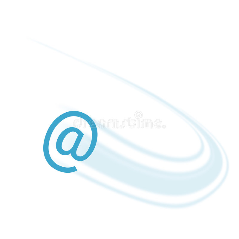 Email prompt illustration stock