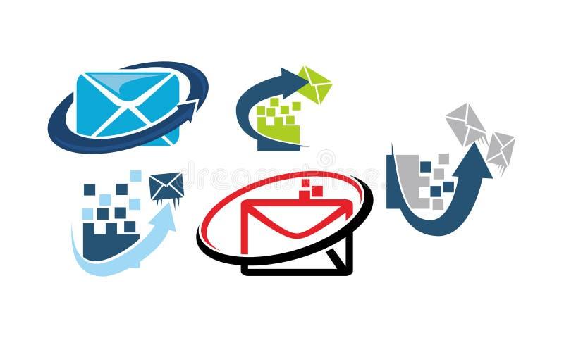 Email que introduz no mercado o App ilustração royalty free