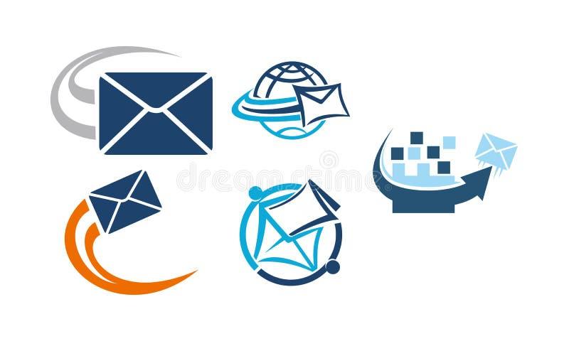 Email que introduz no mercado o App ilustração stock