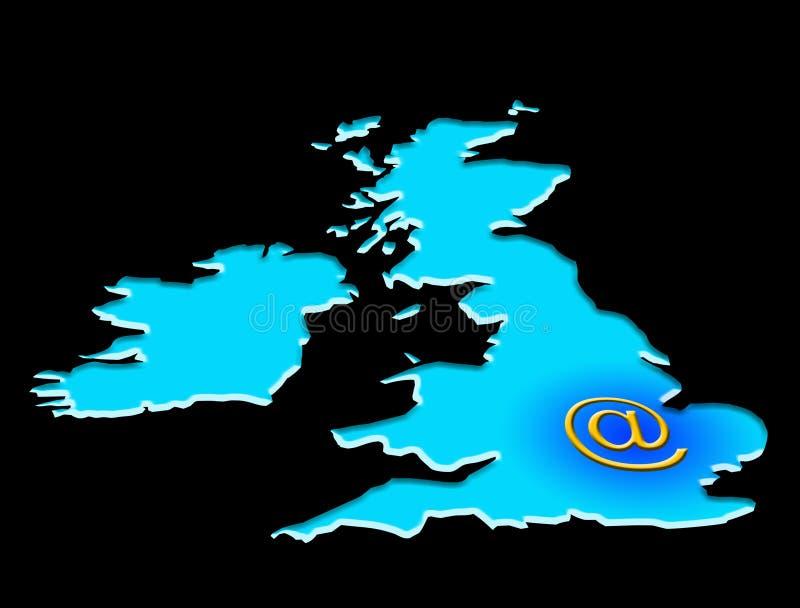 Email Regno Unito fotografia stock