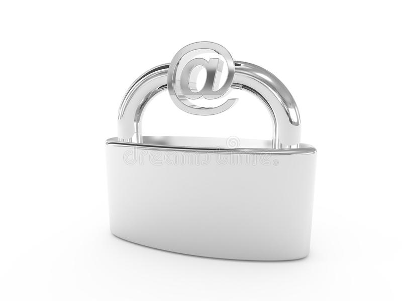 Email security. Image illustrates email security. Generated in 3D application stock illustration