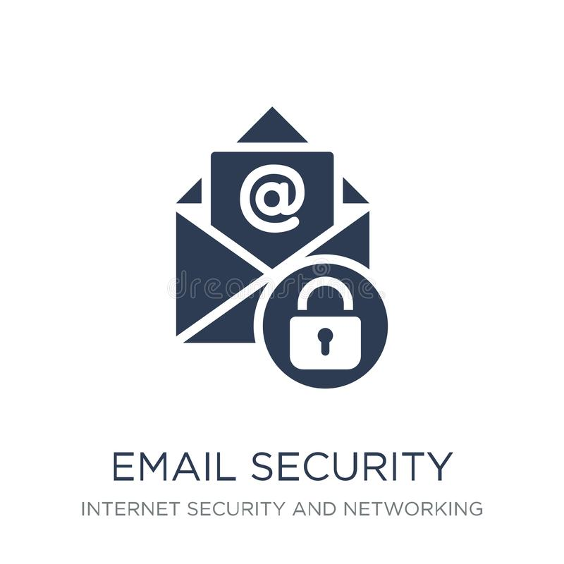 Email security icon. Trendy flat vector Email security icon on w vector illustration