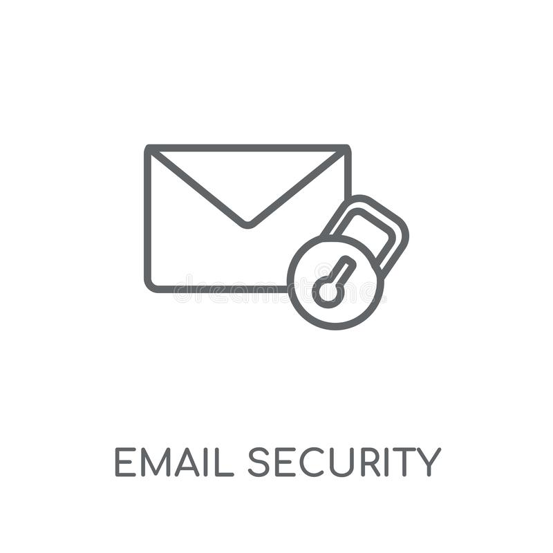 Email security linear icon. Modern outline Email security logo c royalty free illustration