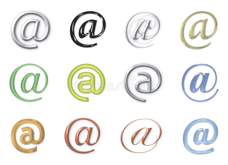Email signs royalty free illustration