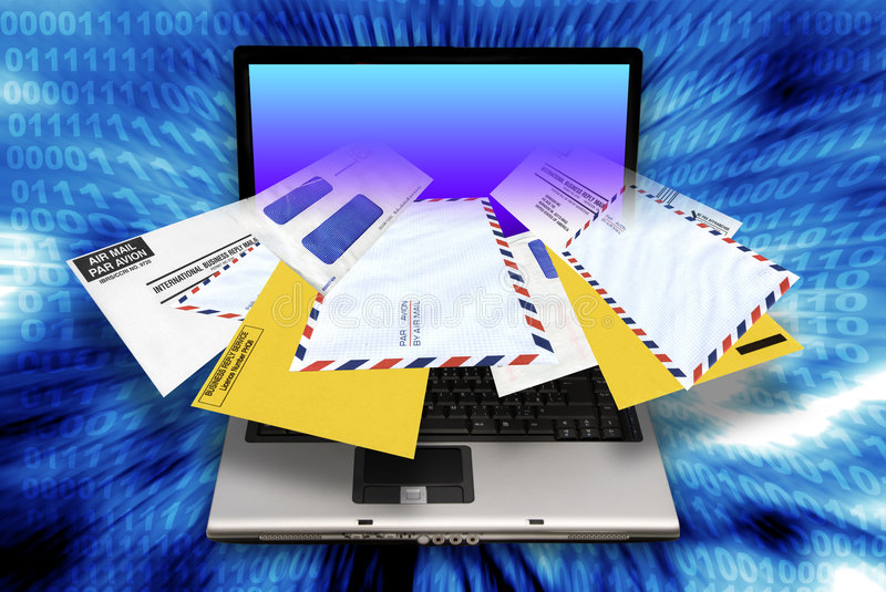 Email Spamming Royalty Free Stock Images