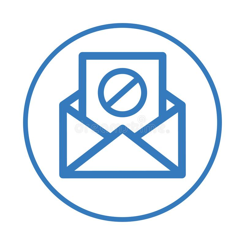 Email Spamming Icon, Spam mailing, wrong e-mail address stock illustration