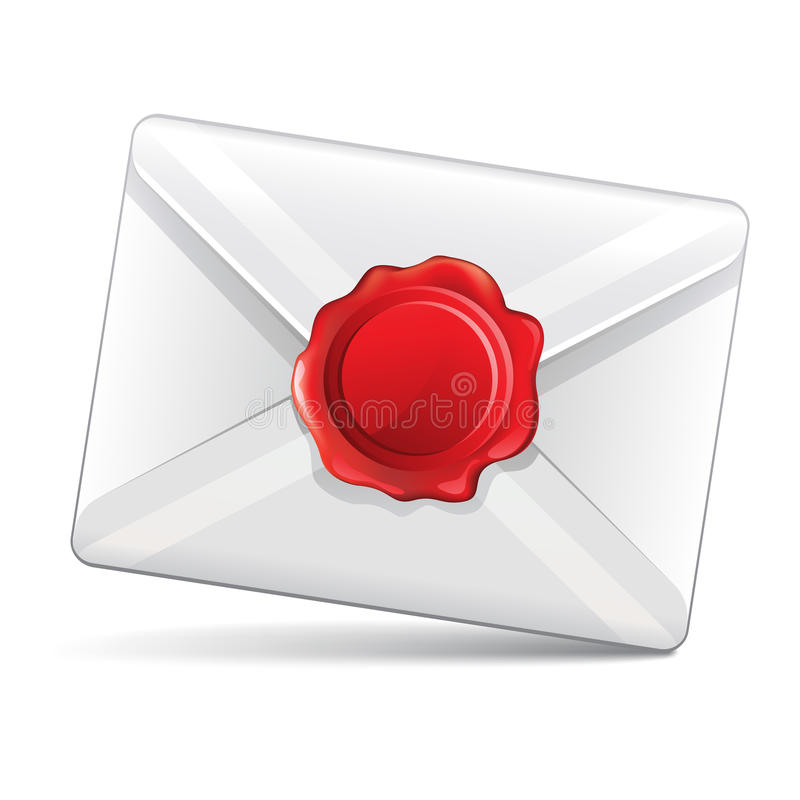 Email stamp royalty free illustration