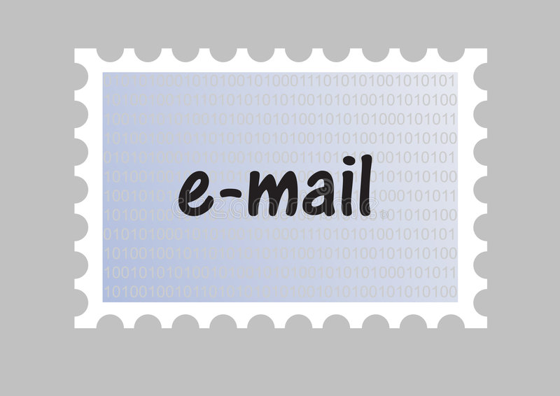 Email stamp stock illustration