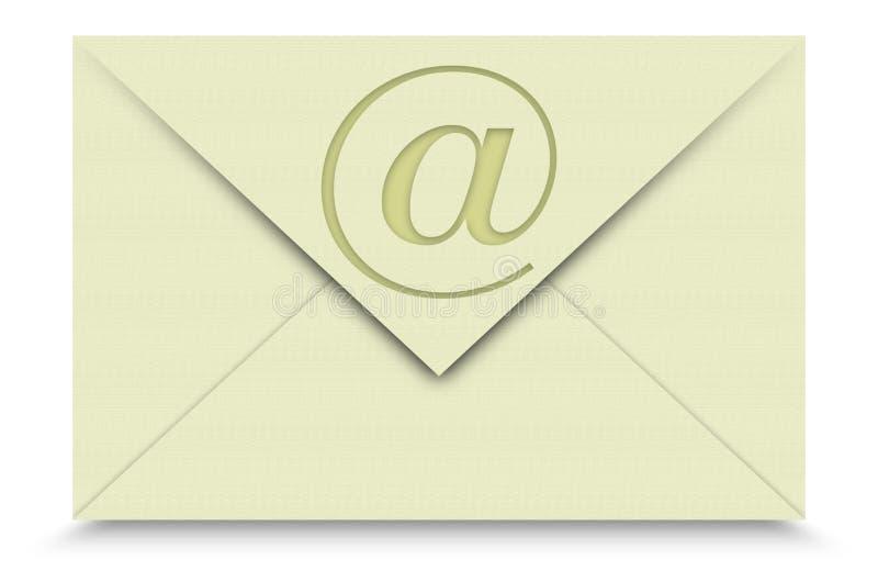 Email su priorità bassa bianca immagini stock