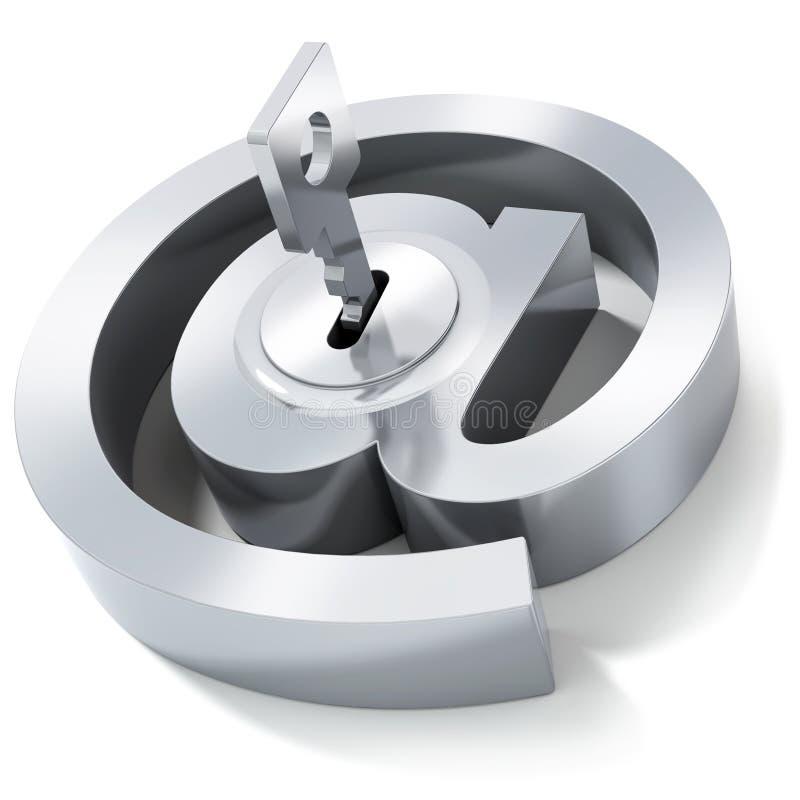 EMail-Symbol mit Taste stock abbildung