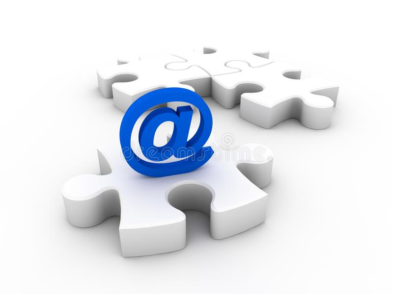 Email symbol and puzzle