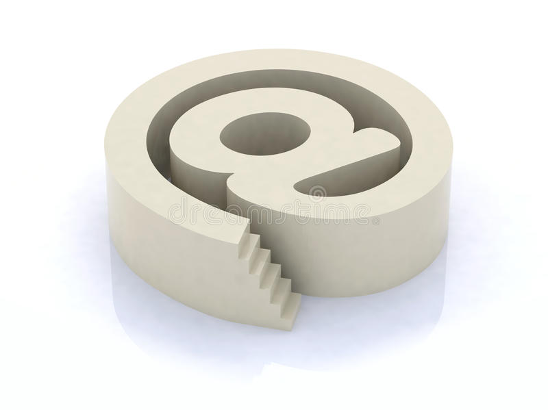 Download Email Symbol With Stair Royalty Free Stock Photo - Image: 19485925