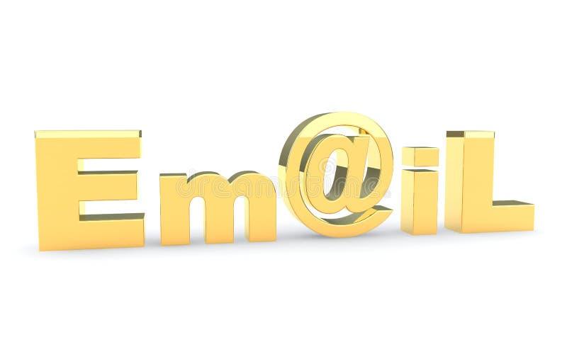 Email szyldowa ikona na bielu ilustracja wektor