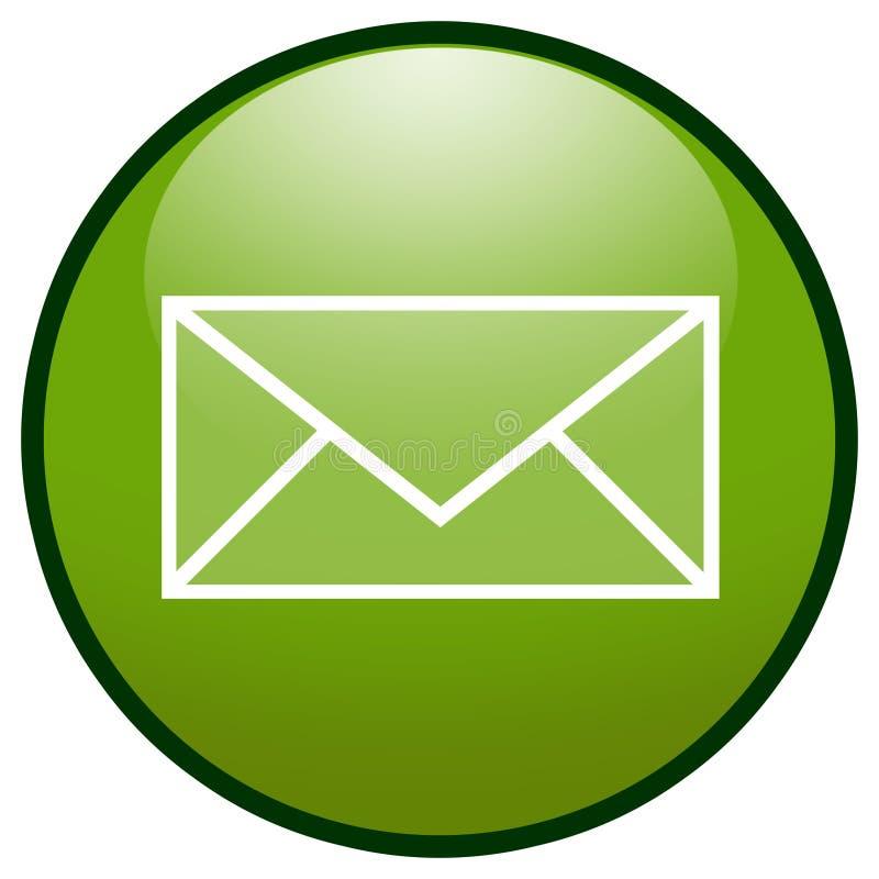EMail-Umschlag-Tasten-Ikone (Grün) vektor abbildung