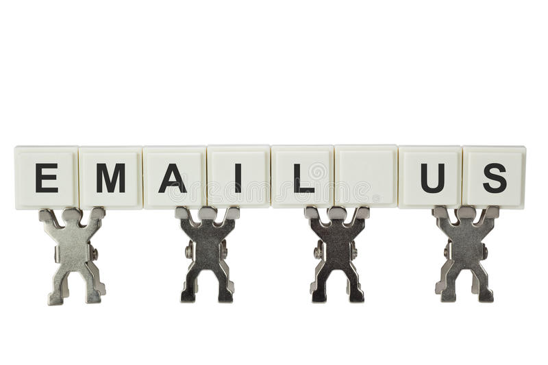 Email Us stock photography