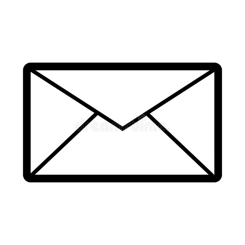 email vector icon black and white mail illustration outline linear rh dreamstime com email vector icon free email vector icon free
