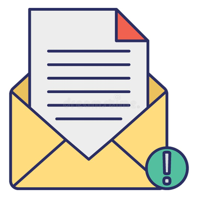 Email virus, infected mail Vector Icon which can easily modify or edit royalty free illustration