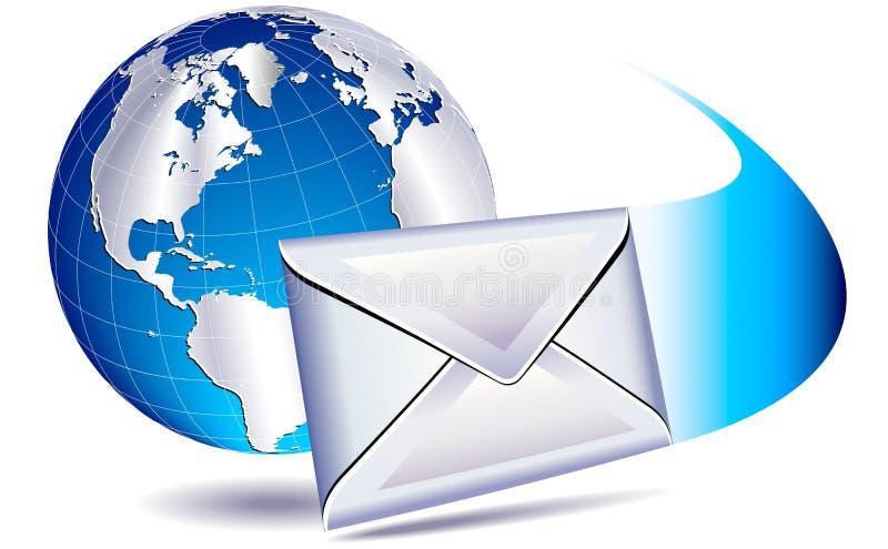 EMail, welche die Welt sendet stock abbildung