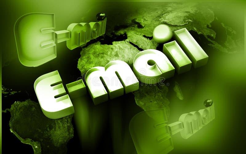 EMail-Welt lizenzfreie abbildung