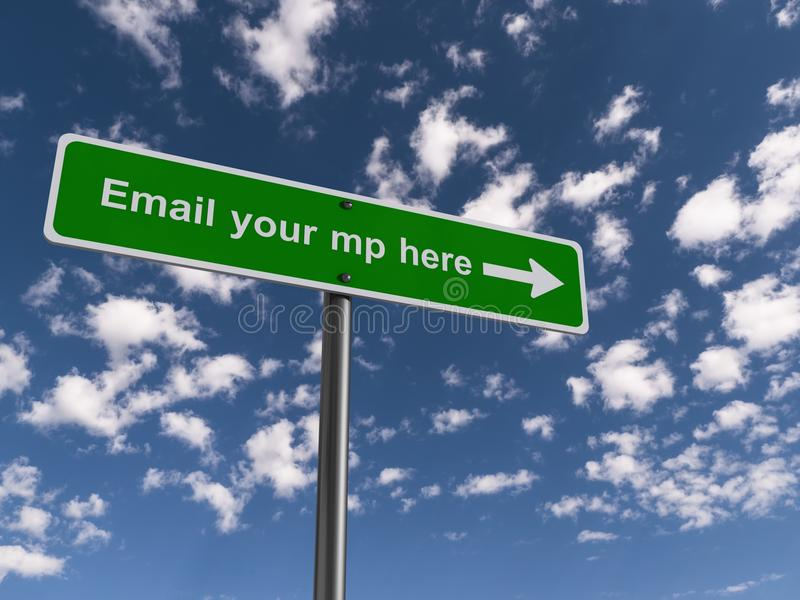 Email your mp here royalty free illustration