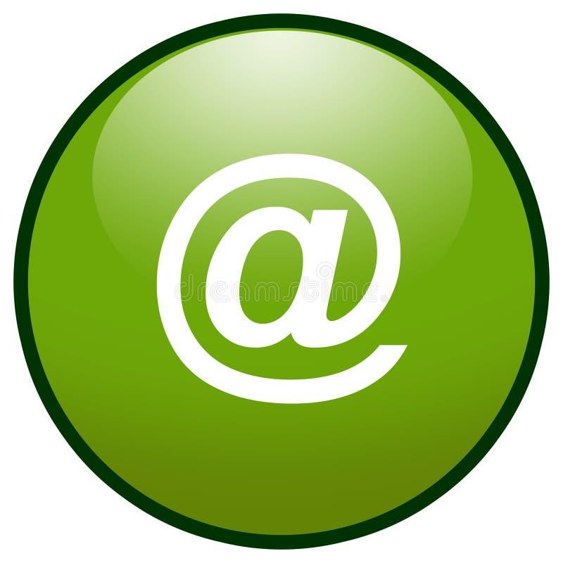 EMail-Zeichen Tasten-Ikone (Grün) vektor abbildung