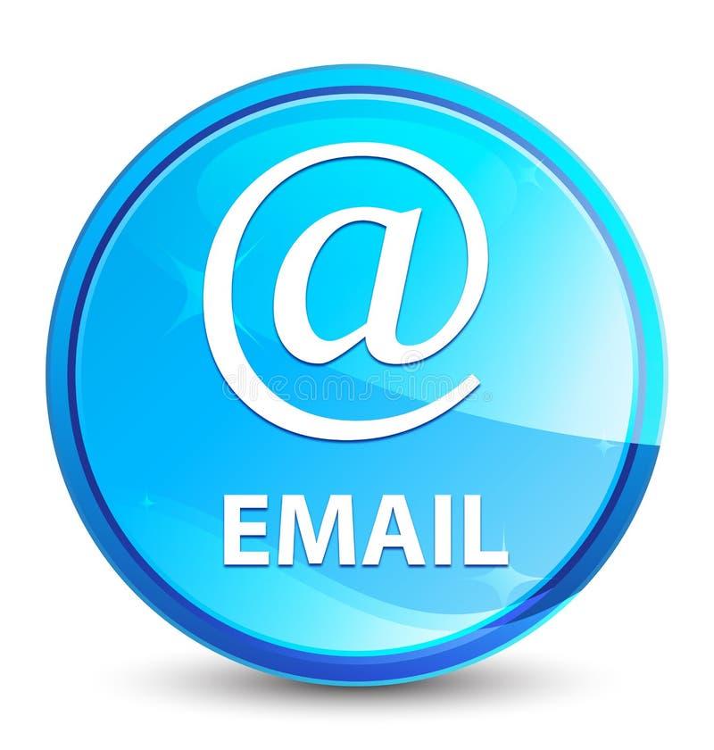 Emaila (adres ikona) pluśnięcia round naturalny błękitny guzik ilustracja wektor