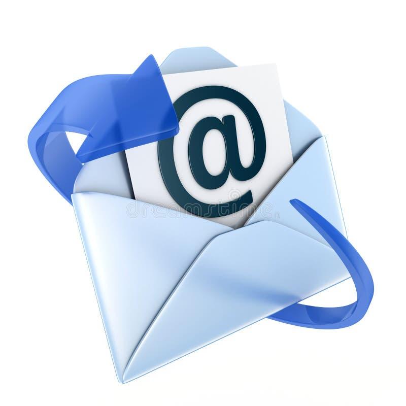 Emaila błękita symbol ilustracja wektor