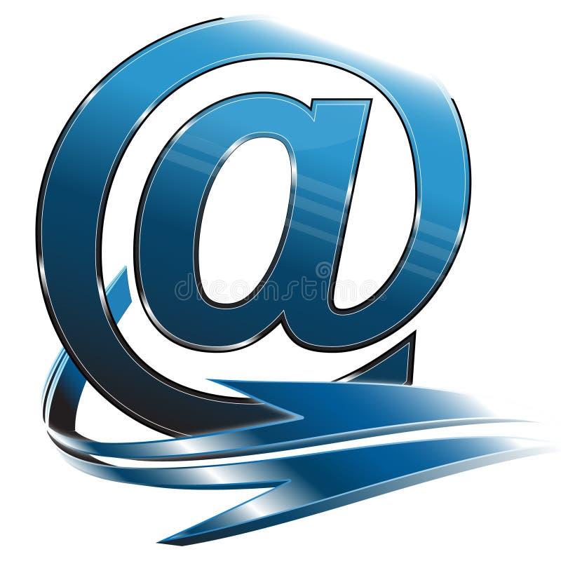 emaila błękitny symbol ilustracji