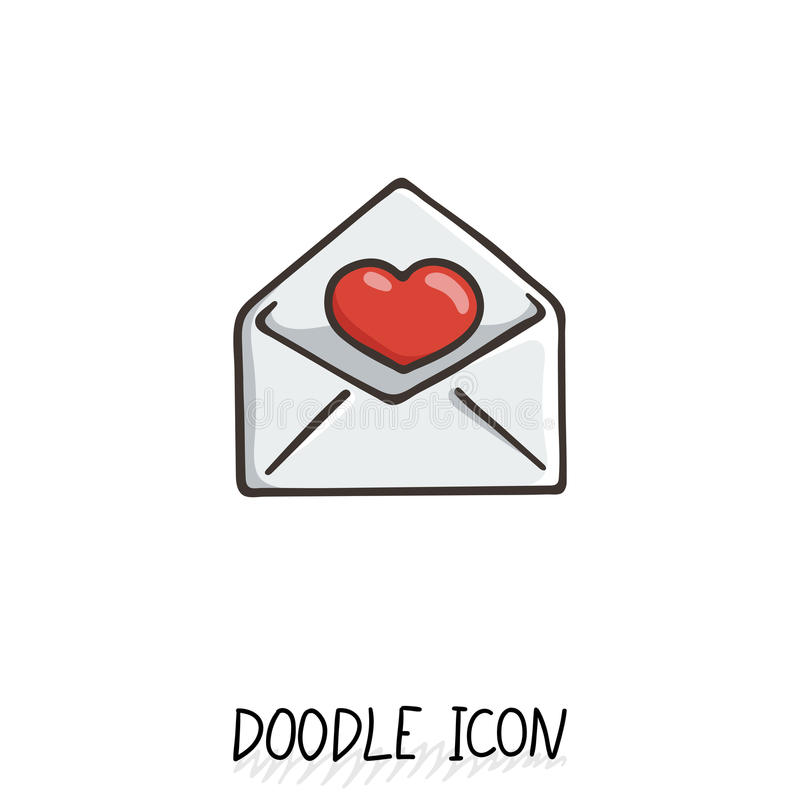 Emaila doodle ikona Wektorowy piktogram ilustracja wektor