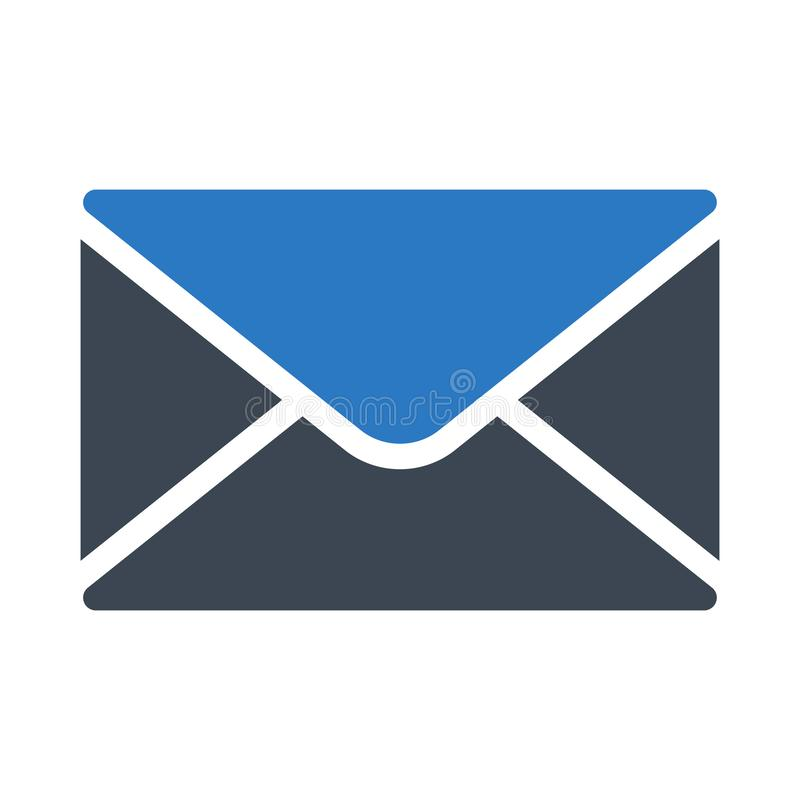 Emaila glifu koloru wektoru ikona ilustracja wektor