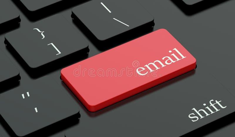 Emaila gorący klucz na klawiaturze ilustracji