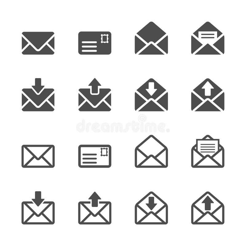 Emaila i listu ikony set, wektor eps10