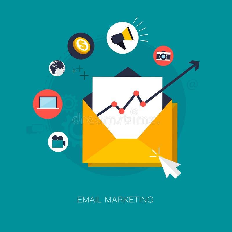 Emaila marketing ilustracja wektor