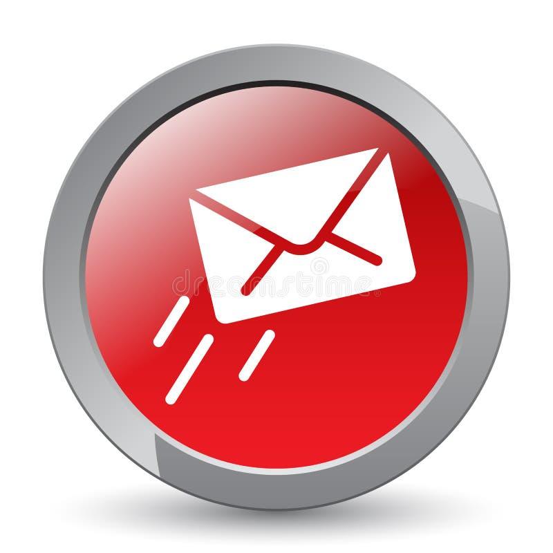 Emaila, poczta ikony guzik/ ilustracji