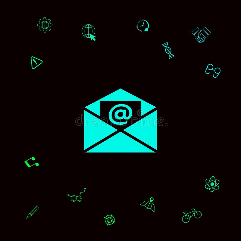 Emaila symbolu ikona ilustracja wektor