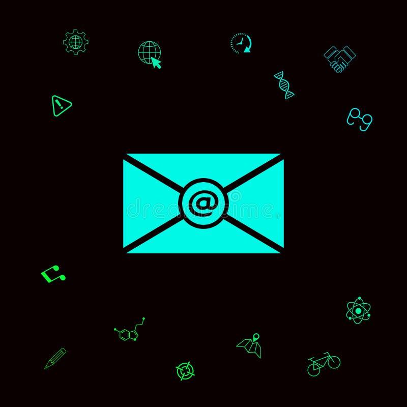 Emaila symbolu ikona royalty ilustracja